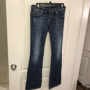 ReRock for Express Bootleg Distressed Jeans 6 long